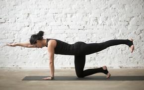 Картинка woman, pose, yoga
