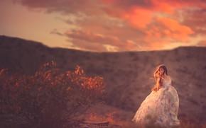Картинка природа, платье, девочка