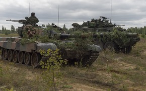 Картинка танк, полигон, бронетехника, маневры