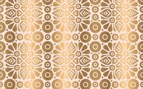 Картинка золото, текстура, индия, орнамент, pattern, Golden, floral