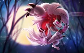 Картинка game, Pokémon Sun & Moon, Pokémon, forest, Pokémon Sun and Moon, claws, fang, lion, Pokemon, …