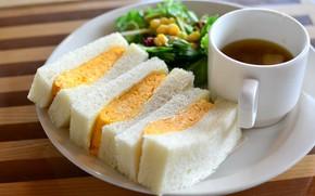 Картинка чай, завтрак, бутерброд