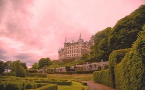 Обои Сатерленд, Sutherland, парк, Замок Данробин, кусты, замок, Scotland, Шотландия, Dunrobin Castle