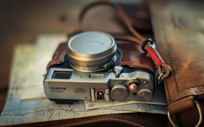 Обои камера, фон, Fuji X100T
