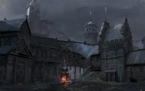 Картинка ночь, башни, строения, ciudad, Valendor Square