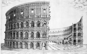 Картинка древний Рим, амфитеатр Флавиев, construction of the colosseum
