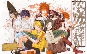 Картинка мальчики, Персонажи, Hikaru no Go, Хикару и го