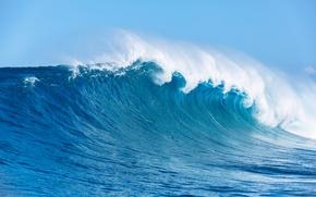 Картинка ocean, seascape, вода, море, брызги, sea, blue, wave, океан, волна