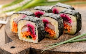 Картинка рис, суши, роллы, нори