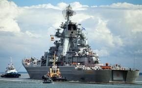 Обои крейсер, тяжелый, атомный, проект 1144, петр великий, ракетный