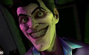 Картинка Игра, Улыбка, Джокер, Зубы, Глаза, Smile, Joker, Eyes, Злодей, Game, DC Comics, Telltale Games, Комиксы, ...
