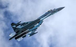 Обои полёт, Су-35, истребитель, многоцелевой