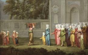 Обои Турецкий Мальчик Первый Раз Идёт в Школу, люди, картина, Жан-Батист ван Мур