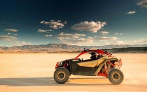 Картинка Небо, Авто, Пустыня, Скорость, Can-Am, Buggy, Багги