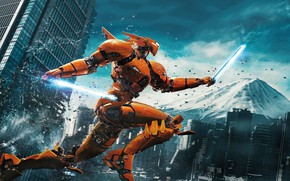 Картинка Action, Fantasy, Robots, Legendary Pictures, Machine, Big, year, 2018, Large, EXCLUSIVE, Pilot, Jake, Movie, Battle, …