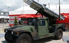 Картинка military, army, american, US Army, missile, High Mobility Multipurpose Wheeled Vehicle, Stinger, military vehicle, Humvee, …