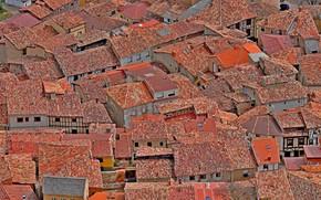 Картинка крыша, дома, текстура, черепица