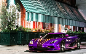 Картинка фиолетовый, Koenigsegg, автомобиль, Agera R