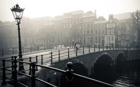 Картинка мост, город, река, Европа