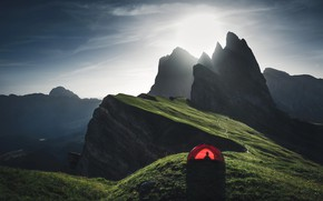 Картинка свет, горы, палатка