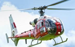 Картинка вертолёт, винты, Westland Gazelle HT.2, лопасти