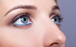 Картинка blue eyes, female, make up