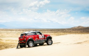 Картинка Песок, Красный, Mini, Спорт, Пустыня, Скорость, Гонка, Rally, Dakar, Дакар, Внедорожник, Ралли, X-Raid Team, MINI ...