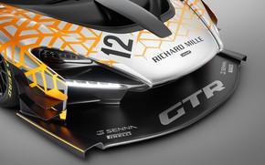 Картинка Concept, McLaren, GTR, гоночное авто, 2018, передняя часть, Senna