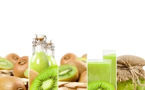 Картинка green, киви, сок, напиток, food, fruit, фреш, drink, kiwi