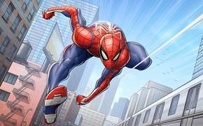 Картинка marvel comics, Spider-Man, Patrick Brown, PatrickBrown, ps4, Insomniac Games