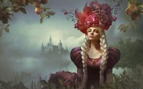Картинка woman, castle, blonde