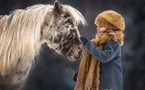 Картинка настроение, девочка, пони, лошадка