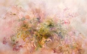 Картинка цветы, ромашки, розовый фон, pink, Натюрморт, Сфумато, сувенирная живопись, Петренко Светлана