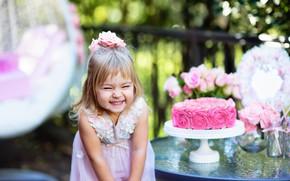 Картинка радость, праздник, ребенок, девочка, торт, cakes, Birthday
