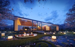 Обои дизайн, здание, Gardenian House