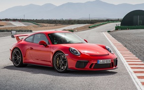 Картинка car, Porsche, red, Porsche 911 GT3