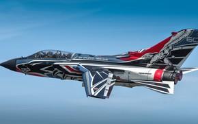 Обои полёт, Tornado, небо, боевой самолёт