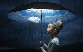 Обои girlie, Umbrella, situation