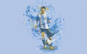 Обои low poly, футболист, Lionel Messi, вектор, Лионель Месси