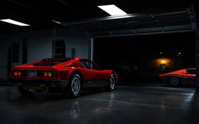 Картинка Цвет, Авто, Lamborghini, Машина, Феррари, Оранжевый, 1971, Ferrari, Фары, Гараж, Автомобиль, 365, Boxer, Supercar, Berlinetta, …