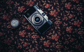 Картинка часы, камера, ключ