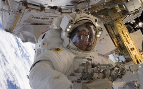 Обои НАСА, МКС, астронавт, США, Роберт Шейн Кимбро