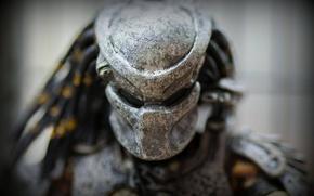 Картинка макро, игрушка, хищник, шлем, статуэтка, Predator