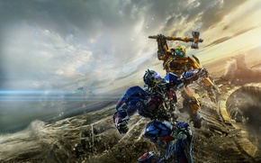 Картинка Action, Robot, Hummer, Warrior, The, Transformers, year, Optimus Prime, Bumblebee, Last, EXCLUSIVE, Weapons, Knight, Movie, …