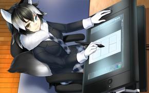 Картинка kawaii, neko, anime, japanese, oppai, bishojo, Kemono Friends