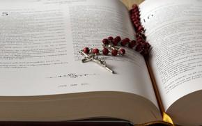 Картинка книга, крестик, Библия