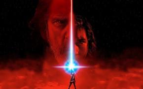 Обои cinema, Star Wars, red, eyes, stars, man, movie, face, film, jedi, Luke Skywalker, Rey, Daisy ...