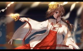 Картинка девушка, танец, аниме, bisonbison, kimi no na wa, miyamizu mitsuha, твоё имя