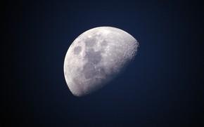 Картинка космос, Луна, moon