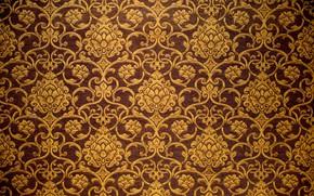 Картинка фон, узор, ткань, golden, орнамент, vintage, pattern, arab, fabric, арабский